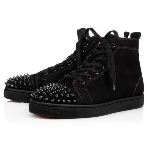 鞋履 - Lou Spikes Flat Suede - Christian Louboutin