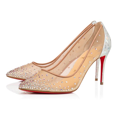 鞋履 - Follies Strass Classic Fabric - Christian Louboutin