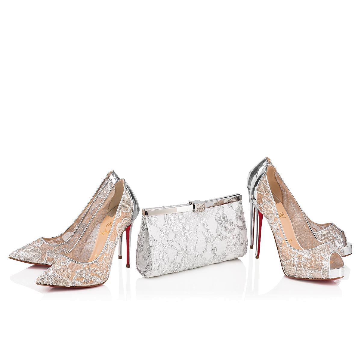 鞋履 - Follies Lace 100 Dentelle - Christian Louboutin